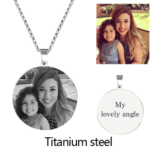 Personalized Photo Necklace Sterling Silver